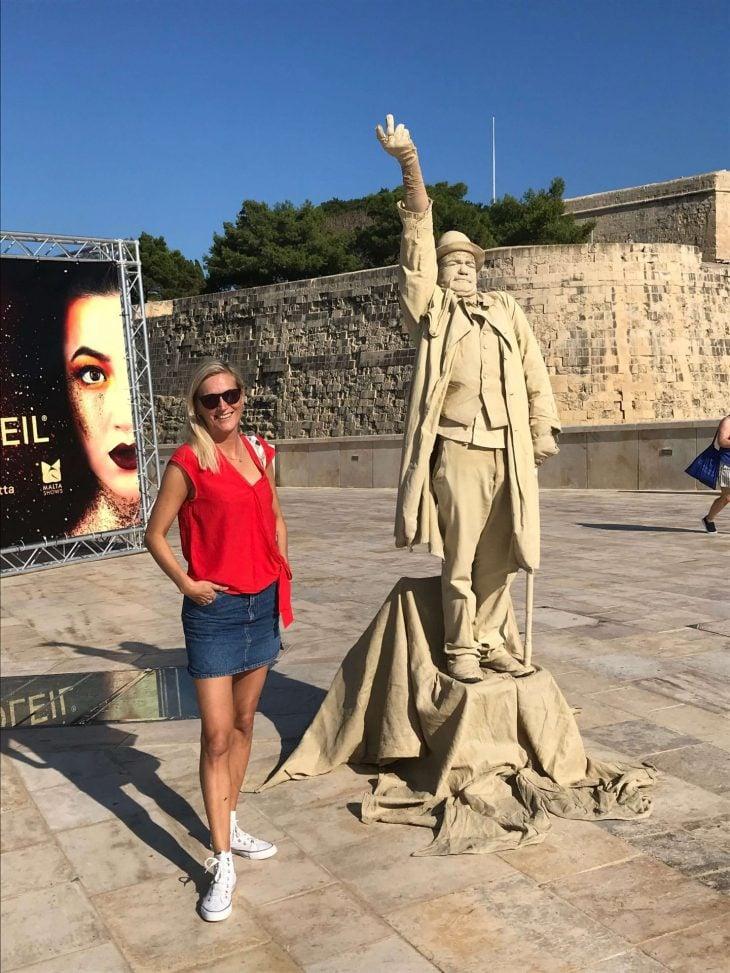 Malta kokemuksia, sää: Valletta elävä patsas katutaidetta