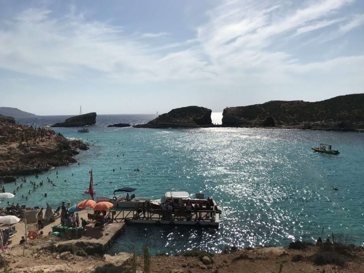 Malta kokemuksia, sää: Comino Blue Lagoon, Sininen laguuni
