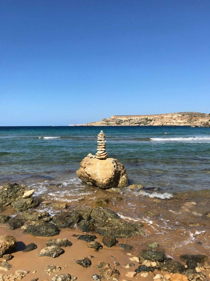 Malta: kokemuksia, sää, Ghajn Tuffieha Bay