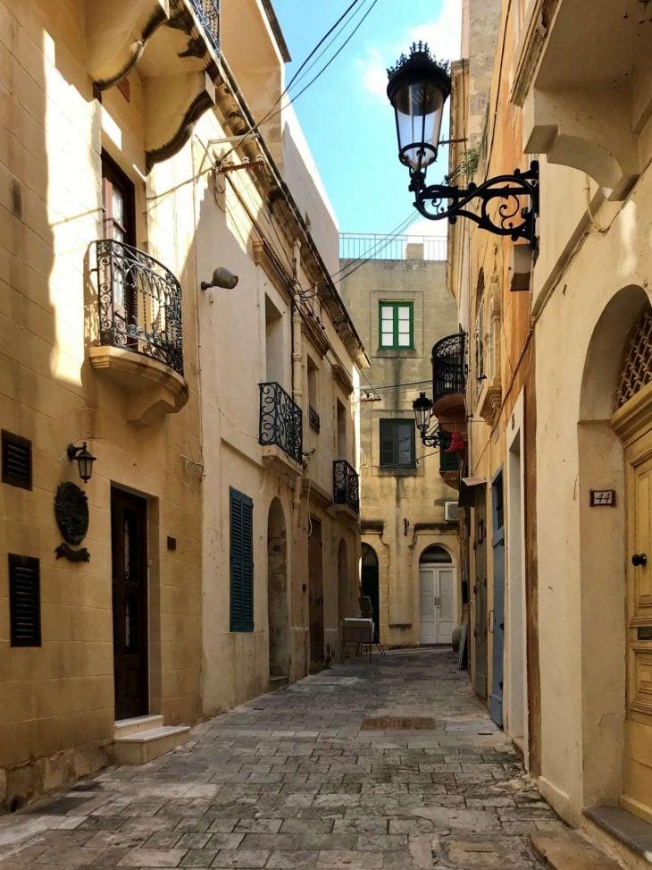 Malta kokemuksia, sää: Gozo Victoria kapeat kujat