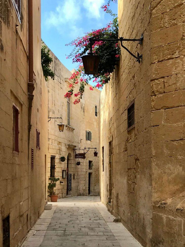 Malta kokemuksia, sää: Mdina vanha kaupunki kapeat kujat
