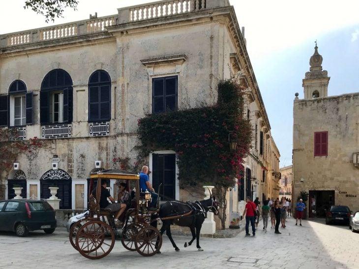 Malta kokemuksia, sää: Mdina hevoskärrryillä