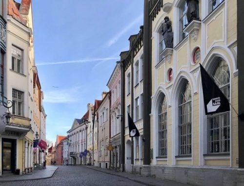 Tallinnan vanhan kaupungin tunnelmaa