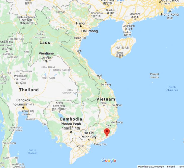 Vietnam kartta, Mui Ne, Phan Tiet, Vietnam kokemuksia, rantaa, sää, matkablogi, Aurinkomatkat