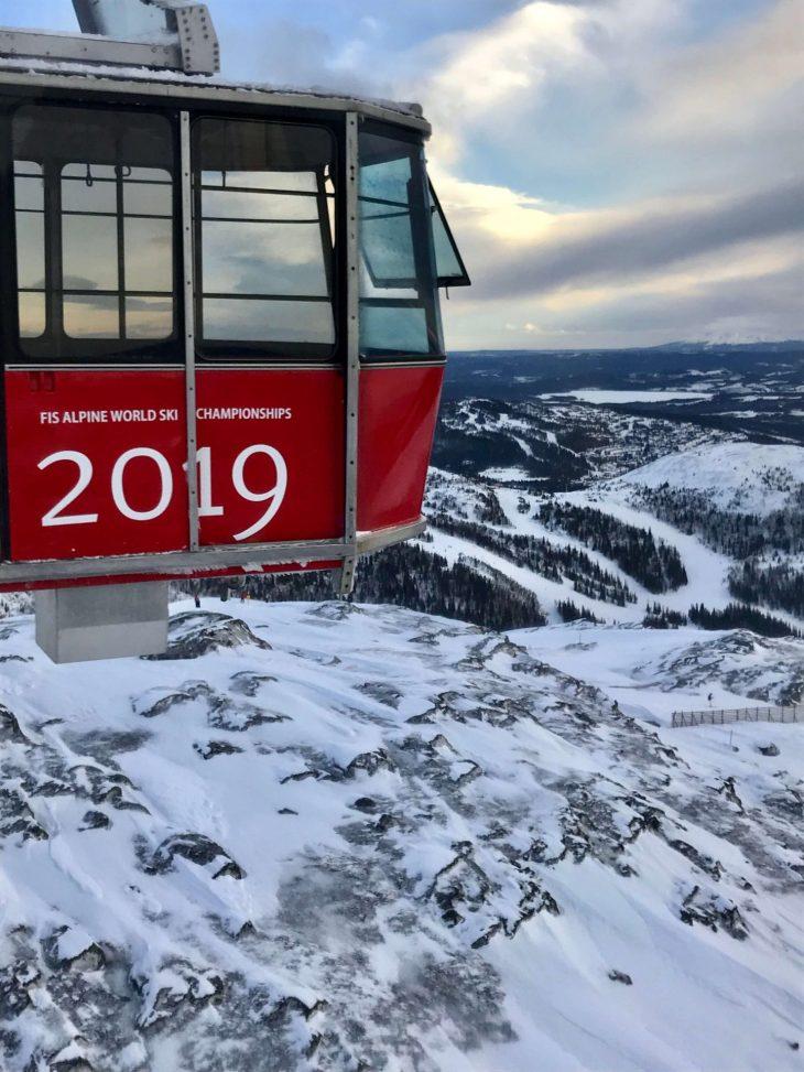 Åren talvisia maisemia Ruotsissa, kabiinihissi, matkailu, matkablogi, korona