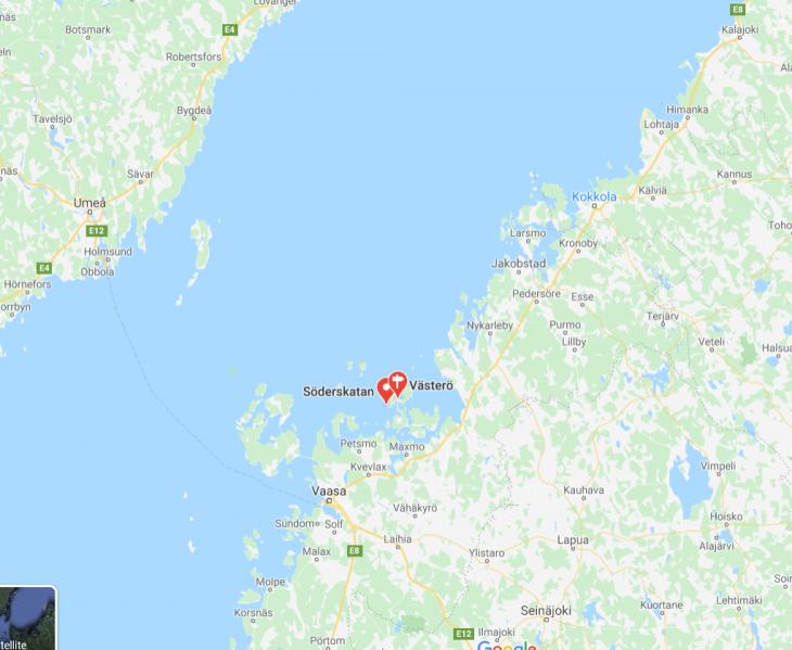 Västerö Söderskatan vaelluspolut Meenkurkun saaristo