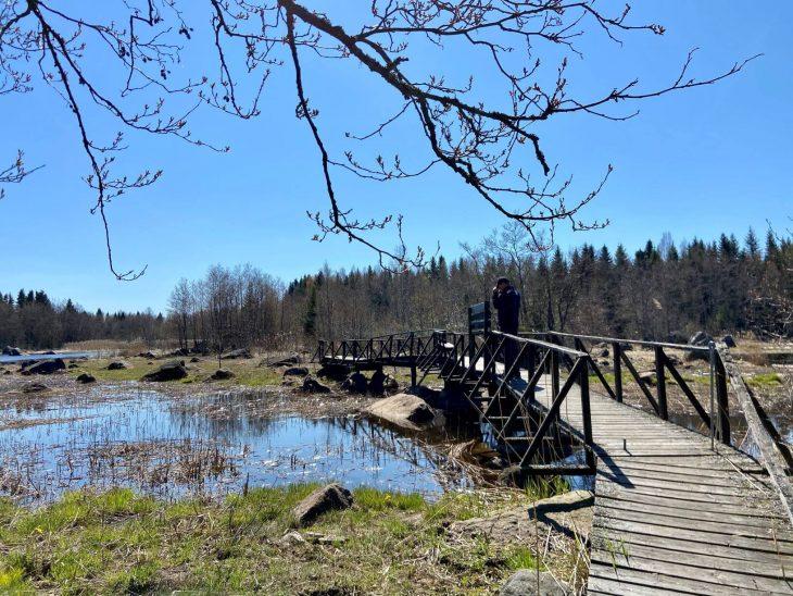Västerö vaellusreitti Merenkurkun saaristo Jätterholmsbrunnen silta