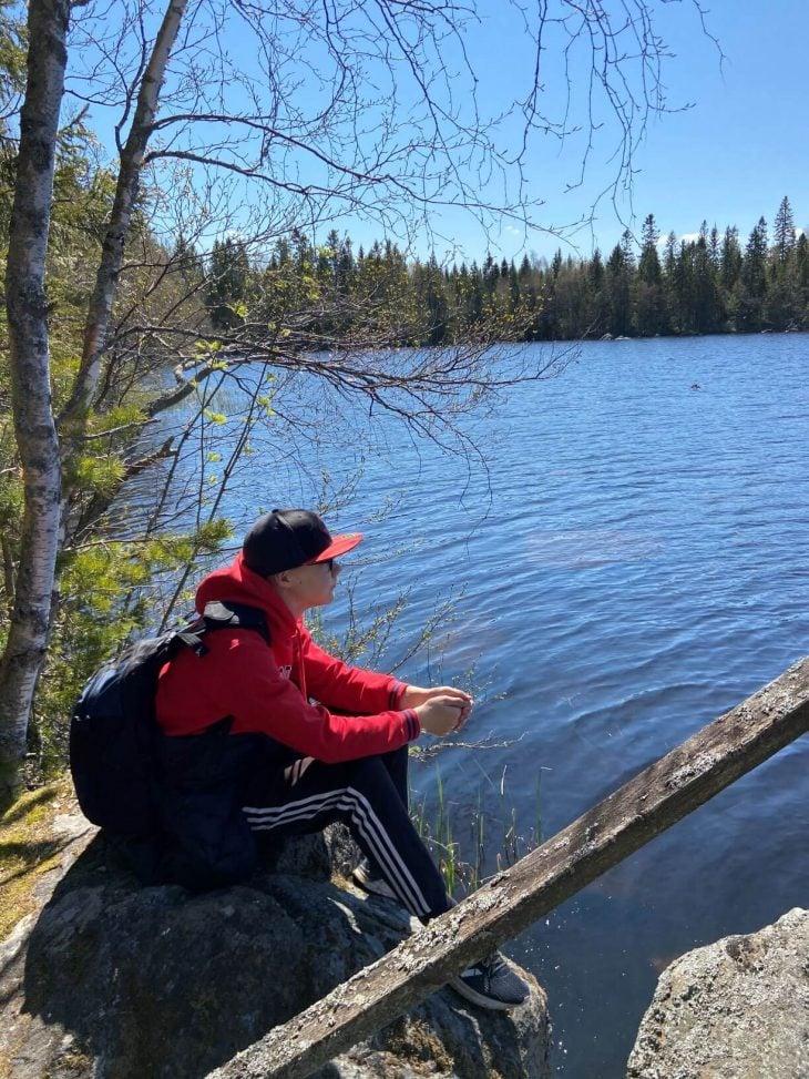 Västerö vaellusreitti Merenkurkun saaristo Söderskataträsken- järven rannalla