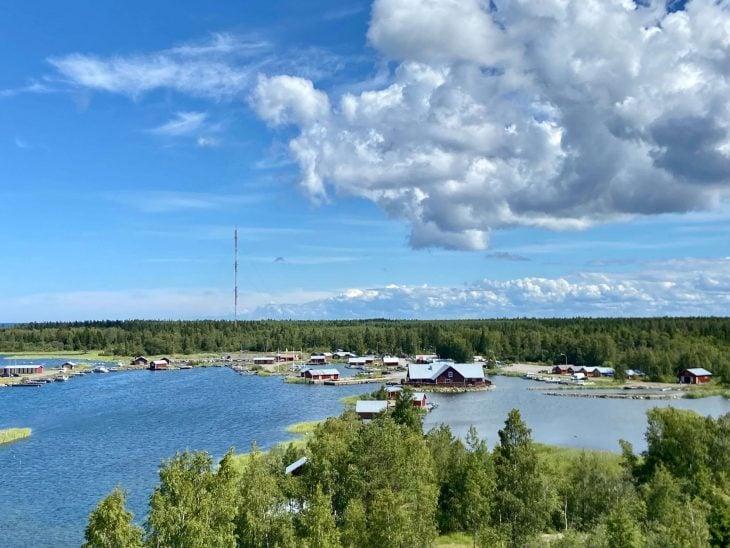 Svedjehamn kalastajakylä venevajoja, Björköby, Raippaluoto Mustasaari, Merenkurkun saaristo