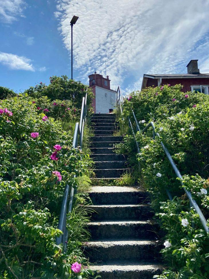 Utö majakka portaat nähtävää ulkosaaristossa