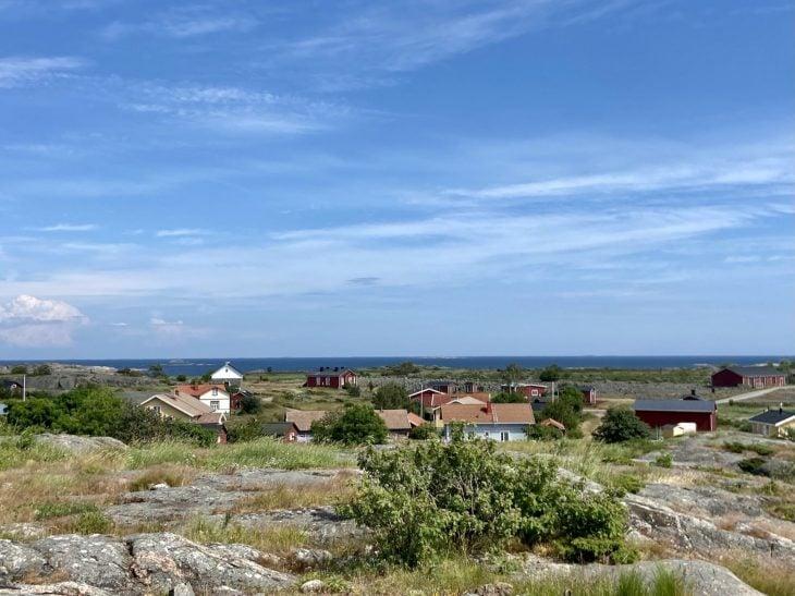 Utö näkymät majakalta saaristokylä ulkosaaristo nähtävää