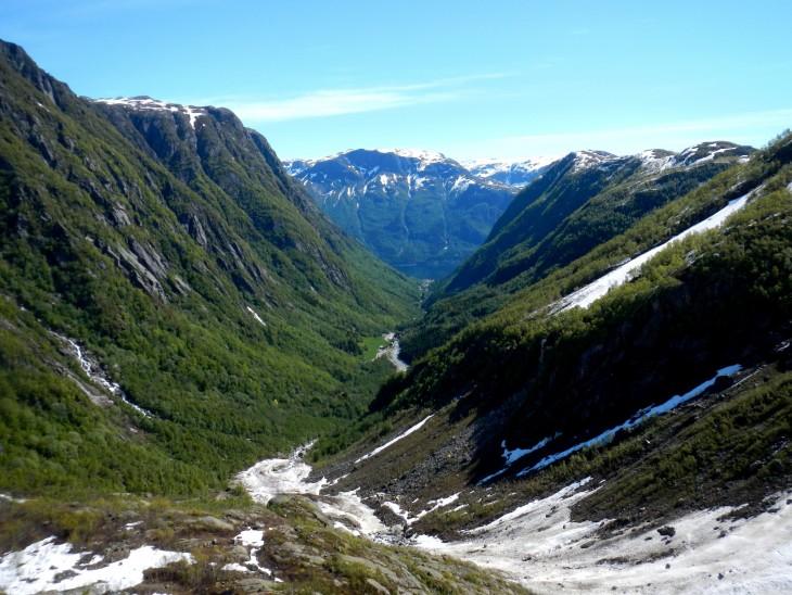 Näkymä Buerdaleniin vuorelta