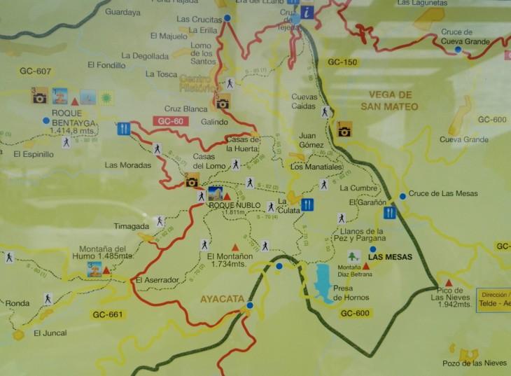 Roque Nublon läheisyydessä on paljon eri vaellusreittejä valittavana