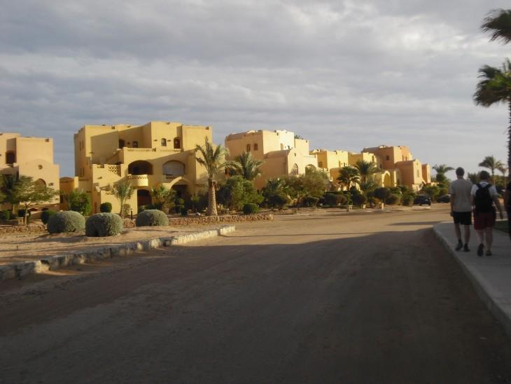 El Gounan keskuskylän lähellä olevia taloja.