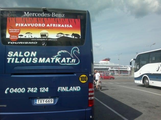 Eräs linja-auto Tallinnassa.