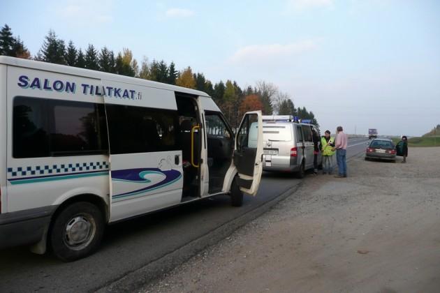 Poliisin juttusilla Valko-Venäjällä. Mutta nyt ennakoin, tähän päästään myöhemmin.
