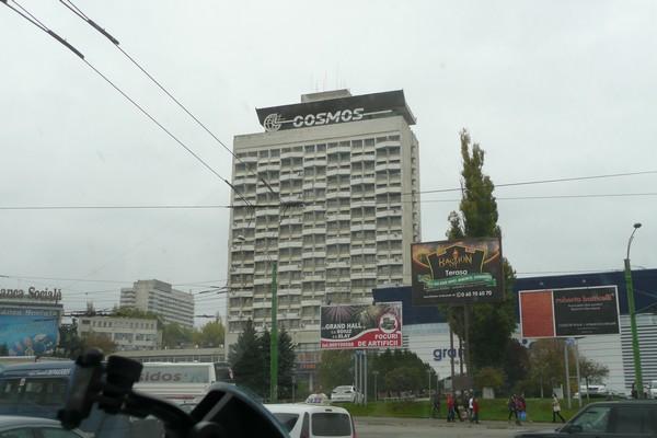 Onpas se suuri ja kotoisa. Hotelli Cosmos, Chisinau.