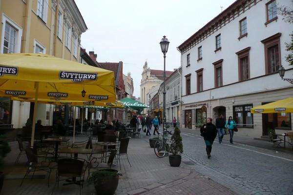 Vilnan vanhaa kaupunkia.