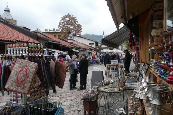 Satunnaisnäkymä vanhasta kaupungista. Sarajevo, Bosnia-Hertsegovina.