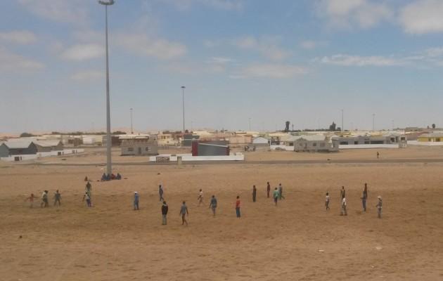 Jalkapalloilijoita Walvis Bayssa.