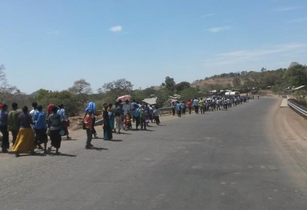 Maanantaikin on näemmä Etiopiassa kansainvaellusten päivä.