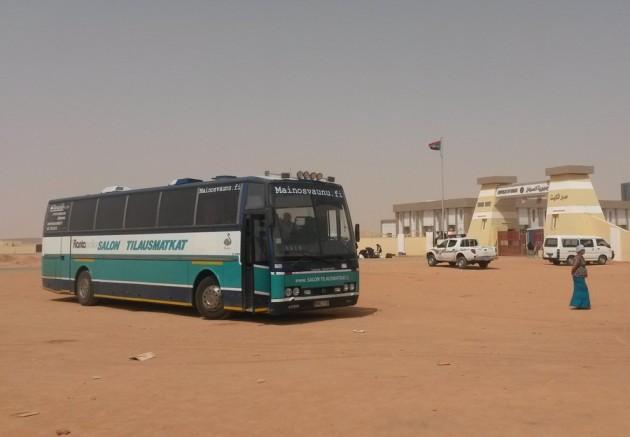 Sudanin raja-asemalla.