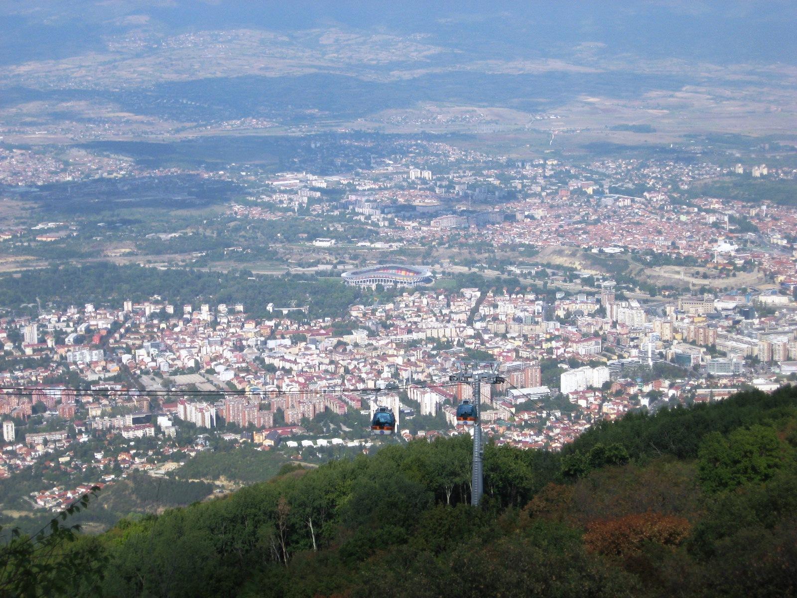 Näkymä Skopjeen