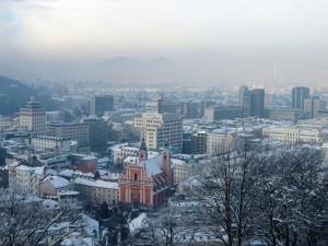 Ljubljanan vanhaa kaupunkia