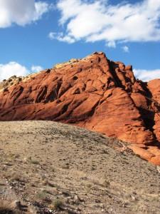 Red Rock canyonin punaista kiveä