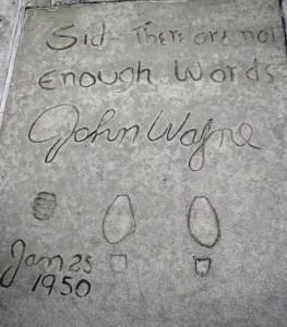 John Waynen bootsin anturat vuodelta 1950.
