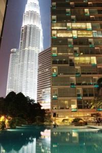 Ensimmäinen ilta Kuala Lumpurissa
