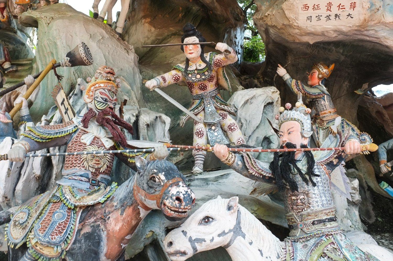 Pienoismalleja kiinalaisista sotilaista