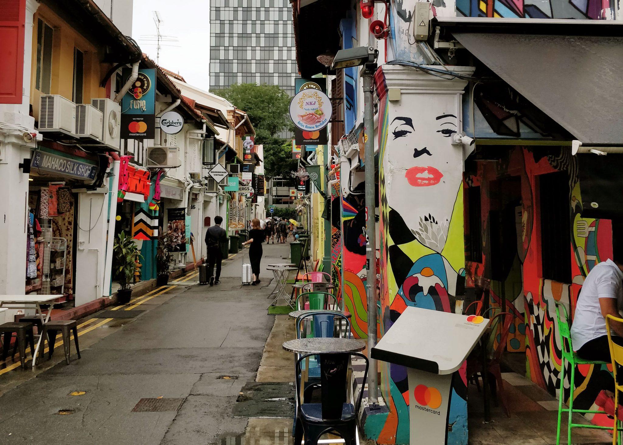 Värikäs katu Singaporessa