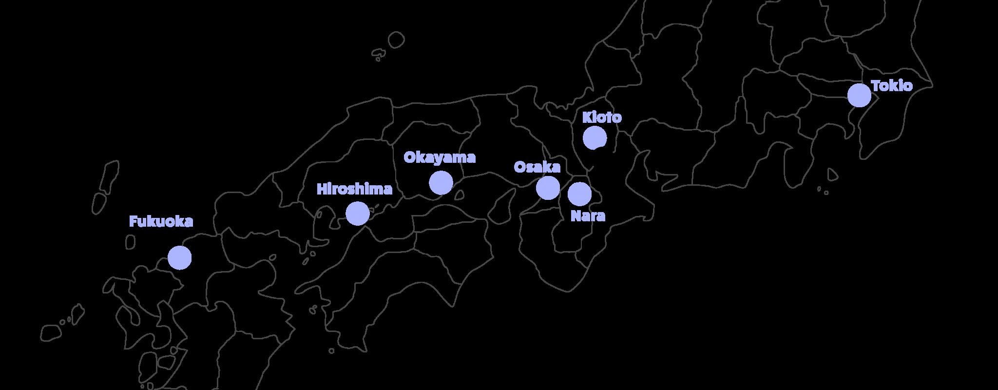 Kartta keski-japanista, korostettuna Uji