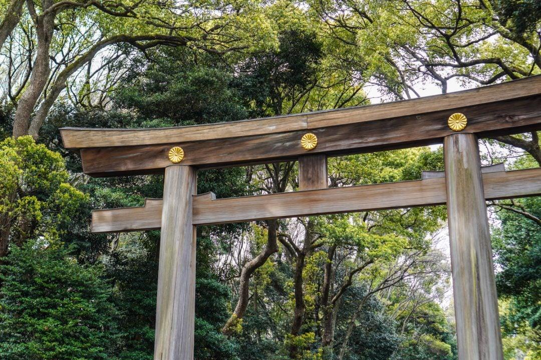 Meiji Jingu -temppelin portti