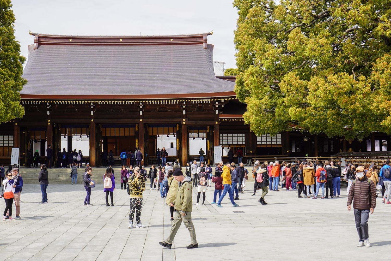 Meiji Jingun päätemppeli ja aukio