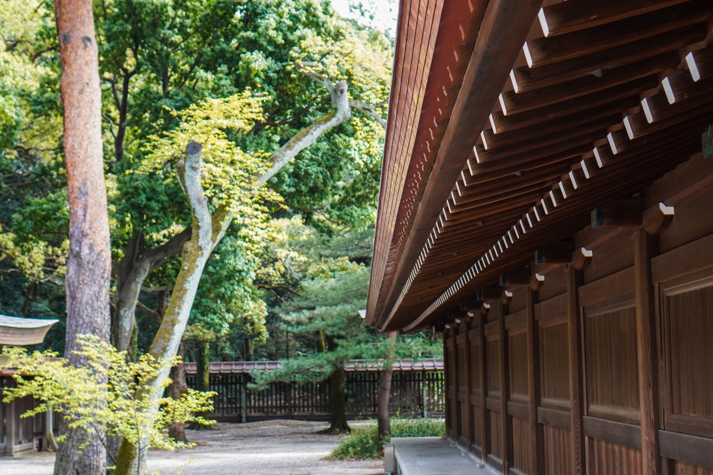 Meiji Jingun rakennusten yksityiskohtia