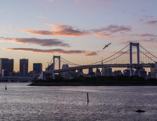 auringonlasku Odaibassa
