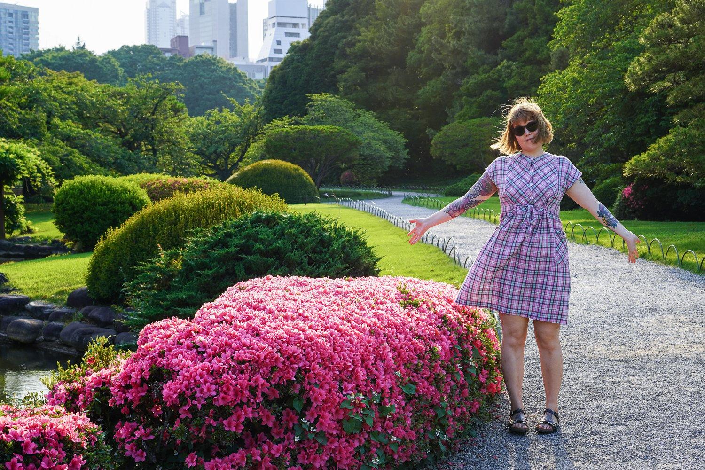 Iida ja Shinjuku gyoen-puisto
