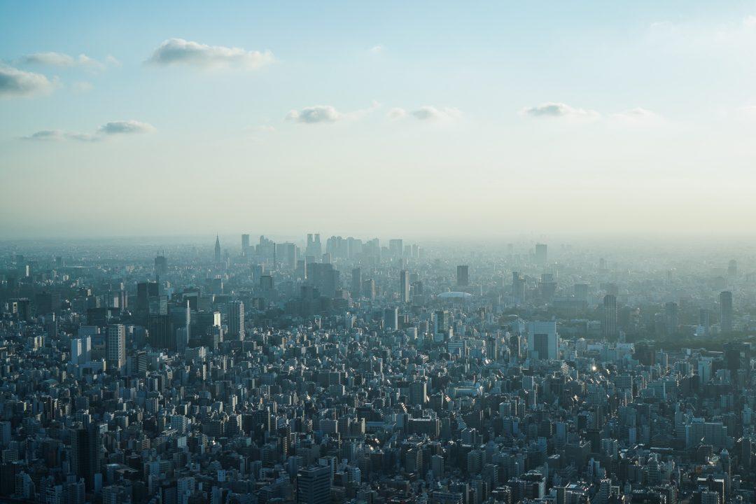 maisemia Tokyo Skytreesta Shinjukuun päin