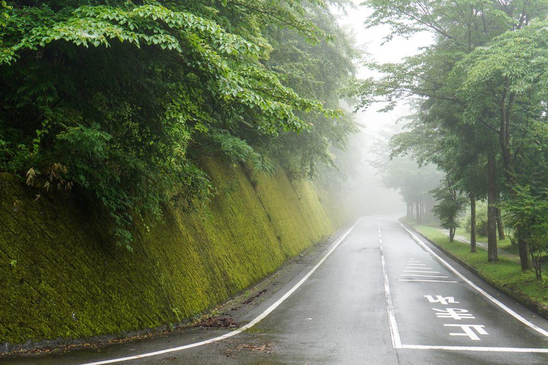 sumuinen tie Nikkossa