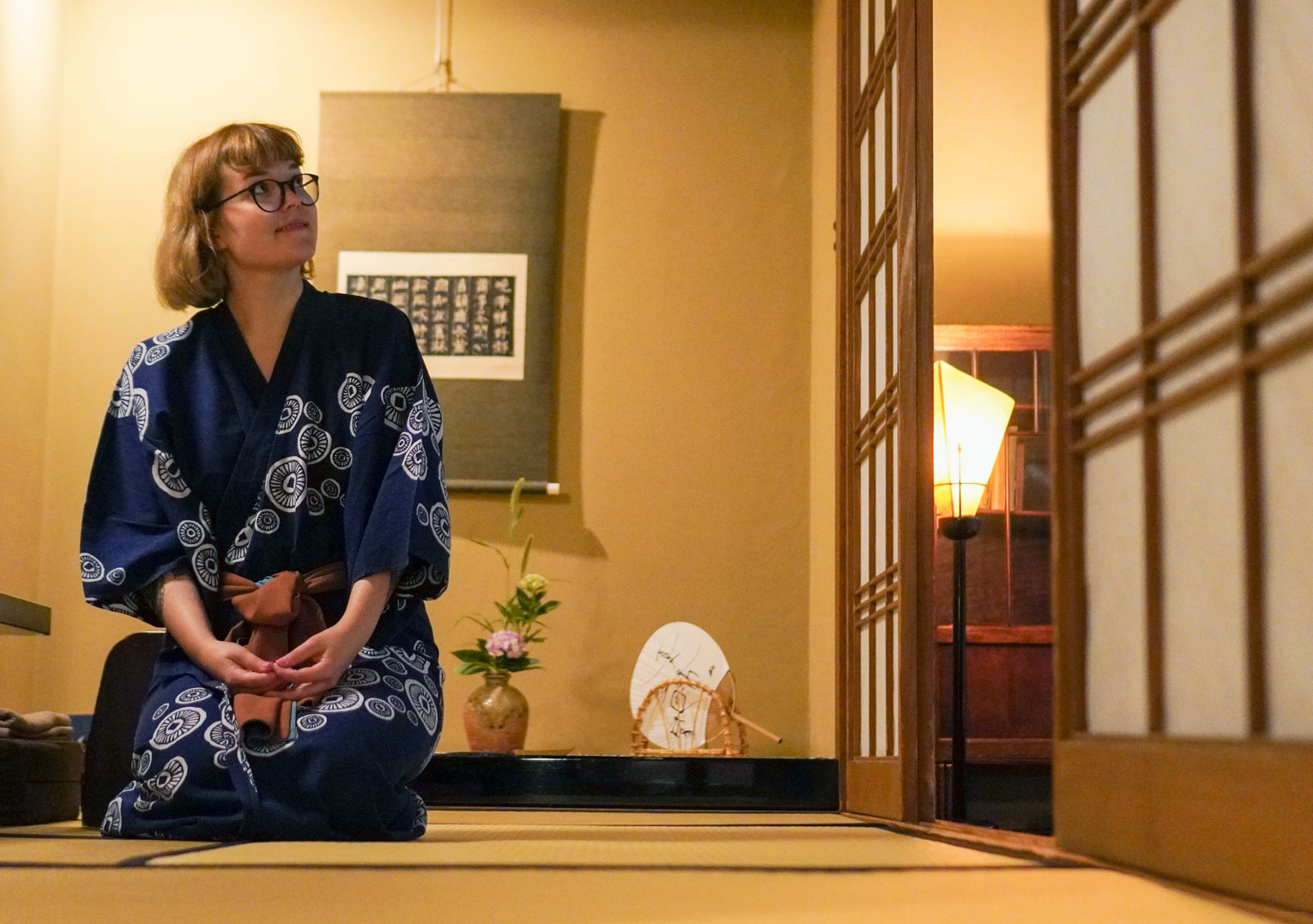 wearing a yukata in Goshoboh