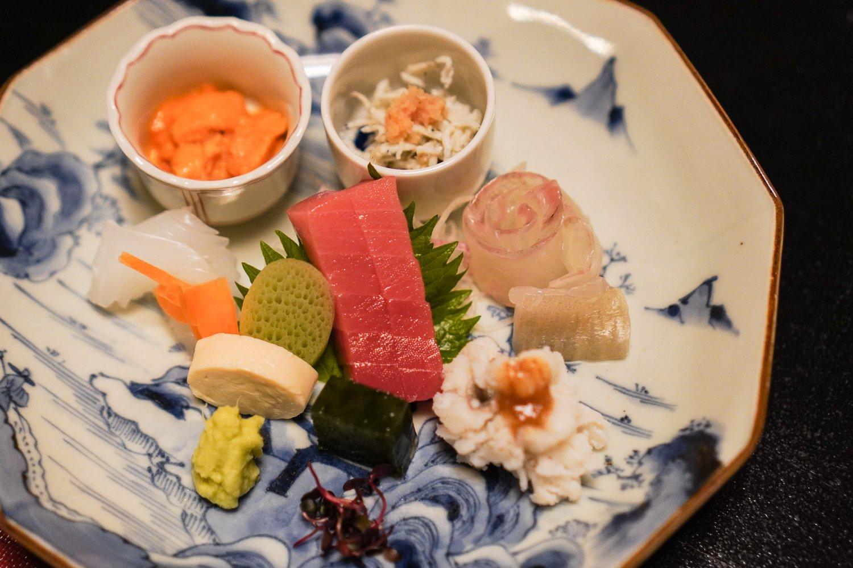 sashimi at Goshoboh