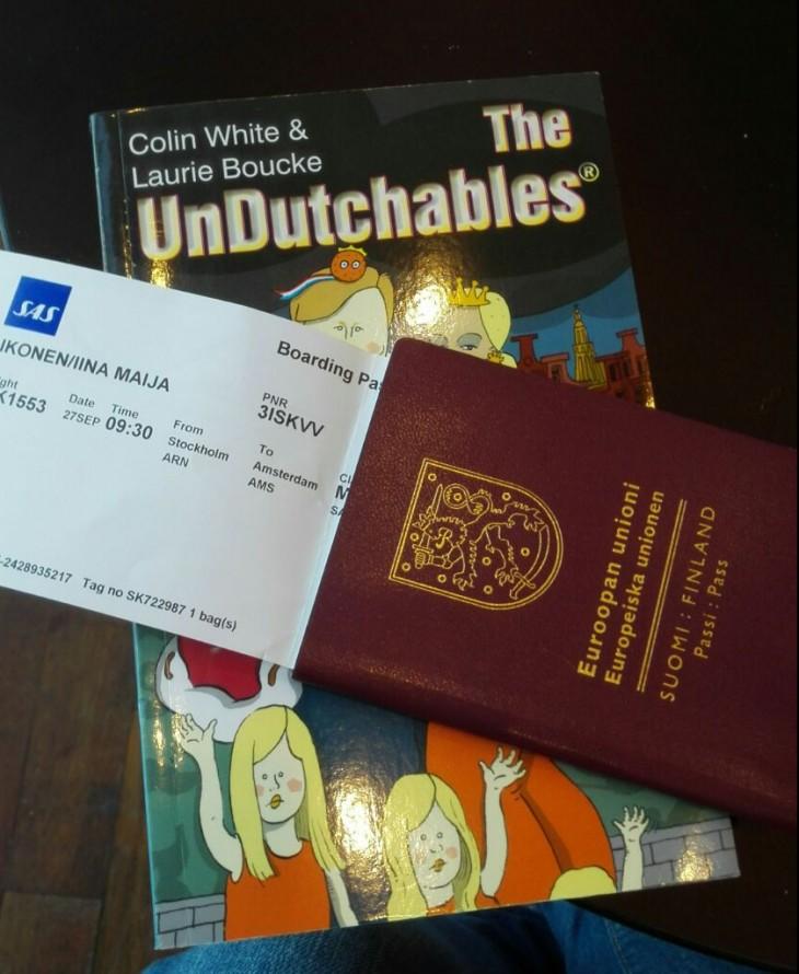 Muutto Hollantiin matkalippu passi Alankomaat