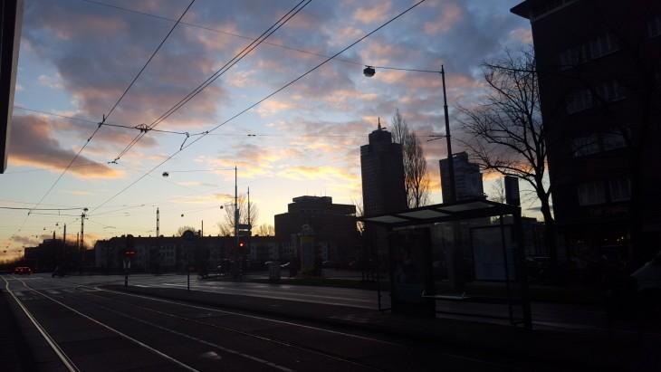 Kevät Alankomaat auringonnousu Hollanti