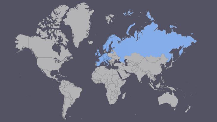 Käymäni valtiot kartta