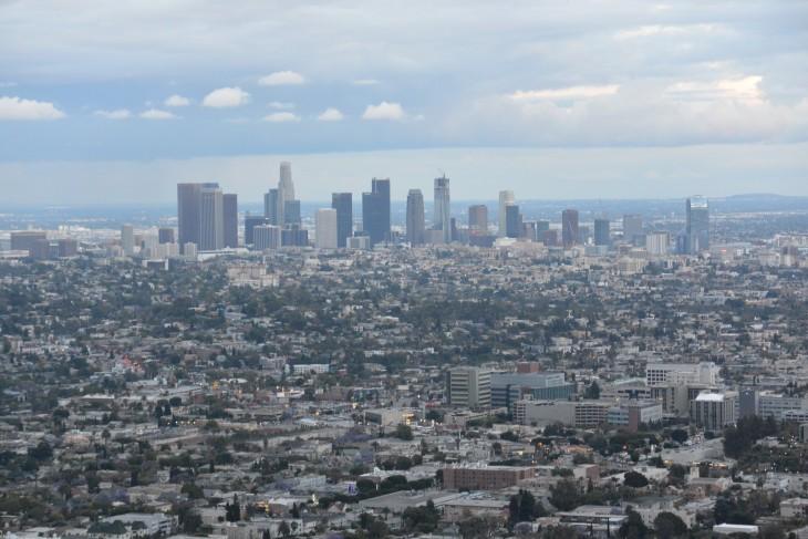 Näkymä Los Angelesin yli Griffith Observatoriolta