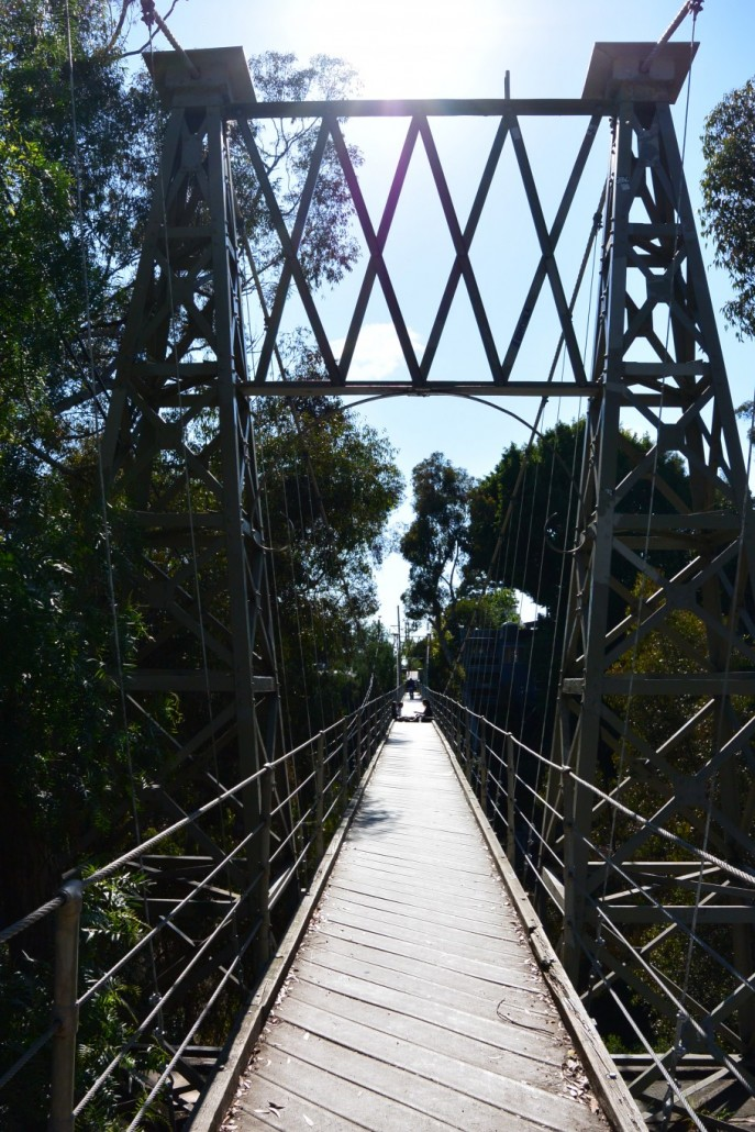Spruce Street Suspension Bridge kyösisilta San Diego