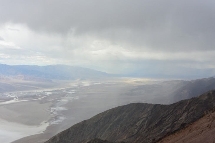 Rain in Death Valley