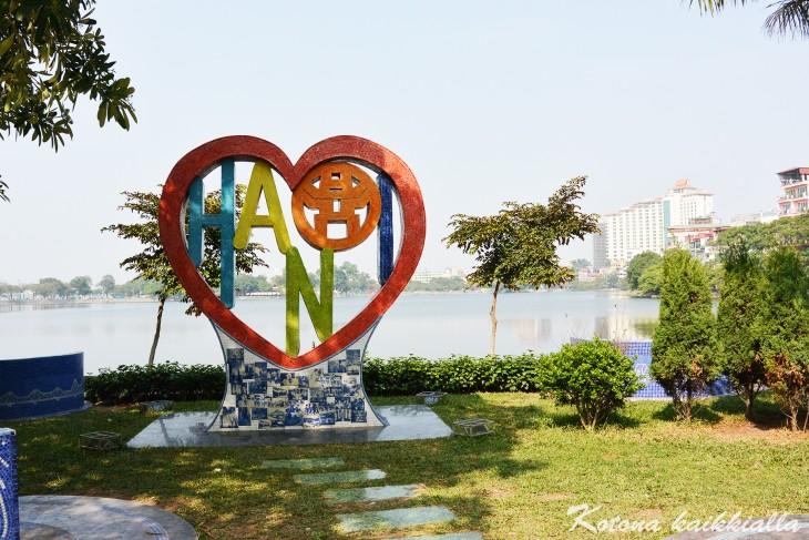 Hanoi kyltti Vietnam
